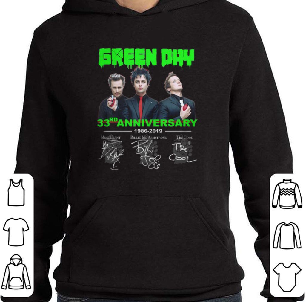 Premium Green Day 33rd anniversary 1986-2019 signatures shirt