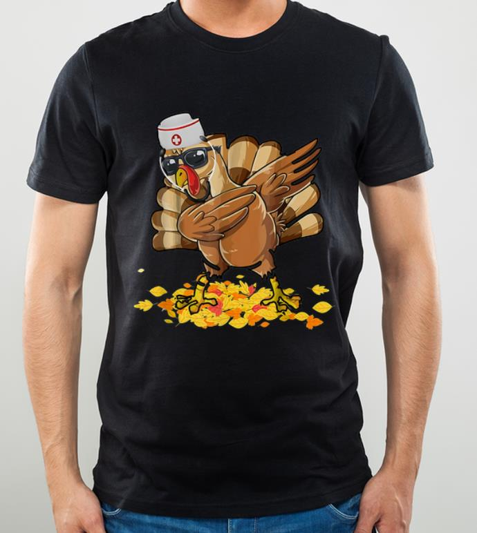 Awesome Dabbing Nurse Turkey Thanksgiving Day Hello Fall shirt