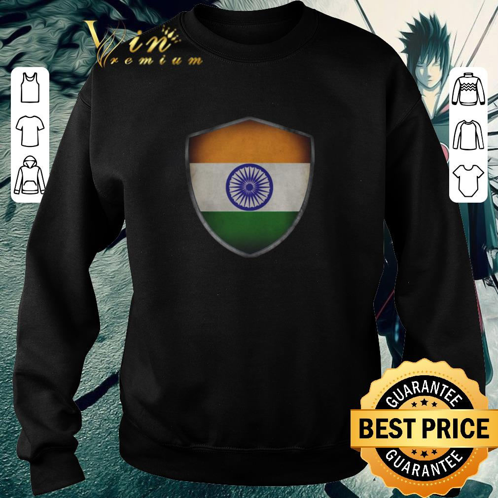 Funny India Flag and Starry Nights Shield shirt