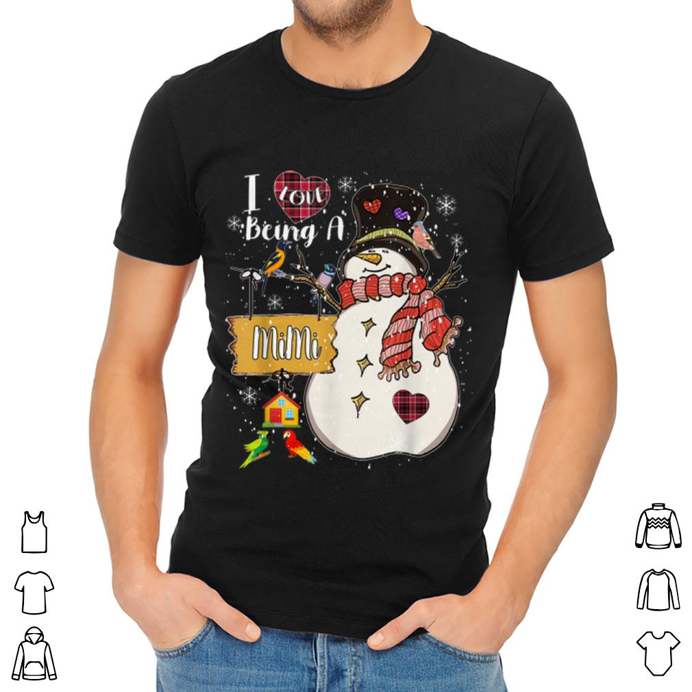 Pretty I Love Being A Mimi Snowman Family Christmas Gifts Shirt 2 1.jpg