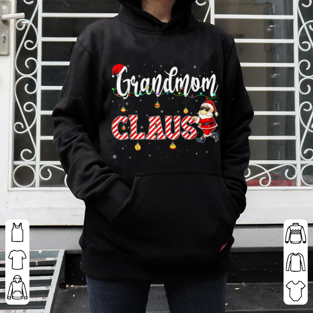 Top Cute Christmas Grandmom Santa Hat Gift Matching Family Xmas shirt