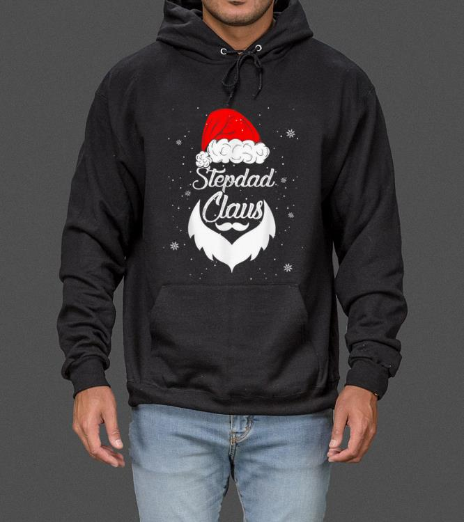 Awesome Funny Christmas Stepdad Santa Hat Matching Family Xmas Gifts sweater