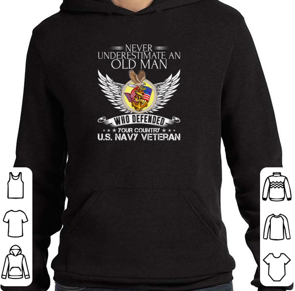 Premium Never underestimate an old man who defended your country US Navy veteran shirt