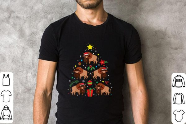 Top Buffalo Bison Christmas Ornament Tree shirt