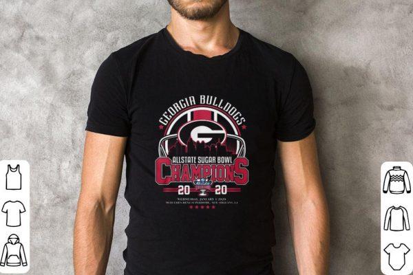 Original Georgia Bulldogs Allstate Sugar Bowl Champions 20 20 shirt
