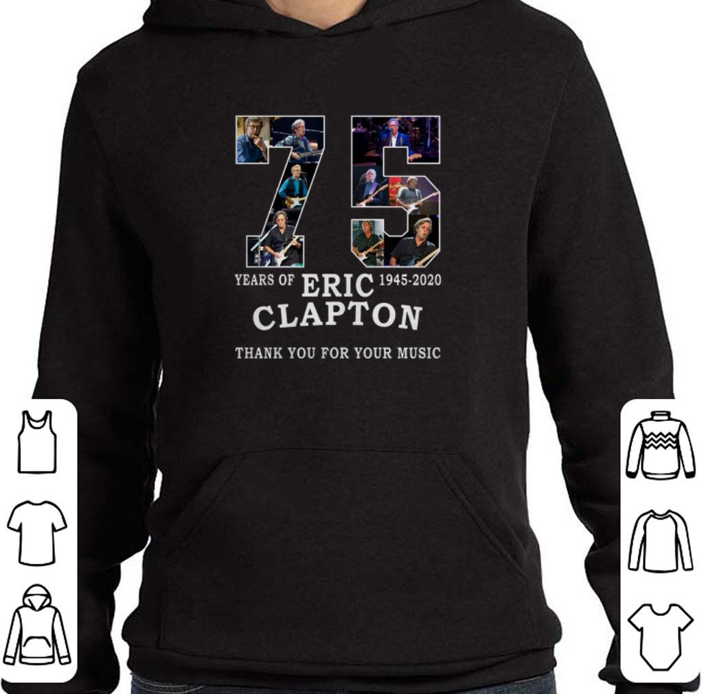 Top 75 years of Eric Clapton thank you for your music shirt
