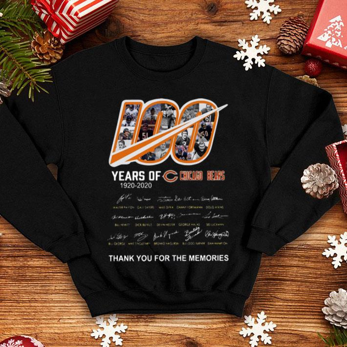 100 Years Of Chicago Bears Thank You For The Memories Signatures shirt 4 3 - 100 Years Of Chicago Bears Thank You For The Memories Signatures shirt