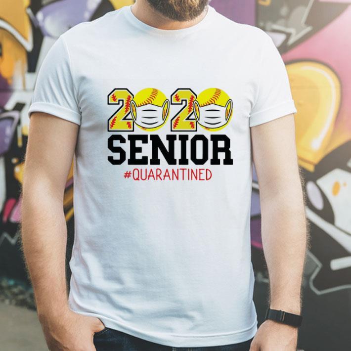 2020 Baseball Mask Senior Quarantined Covid 19 shirt 4 - 2020 Baseball Mask Senior #Quarantined Covid-19 shirt