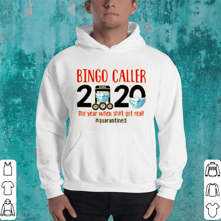 Bingo Caller 2020 Face Mask The Year When Shit Got Real Quarantined