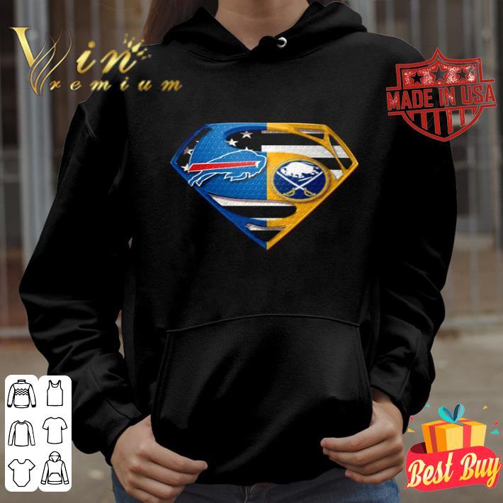 Buffalo Bills and Buffalo Sabres inside Superman logo shirt 4 - Buffalo Bills and Buffalo Sabres inside Superman logo shirt