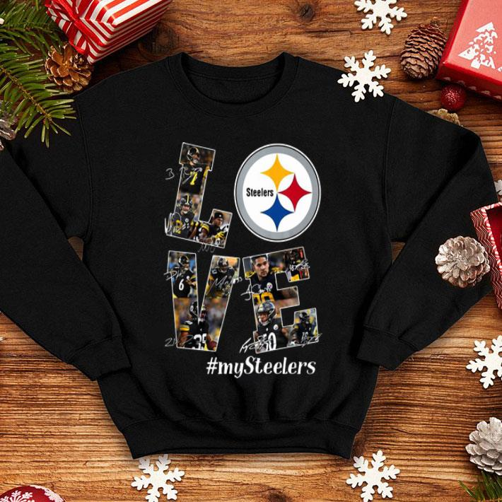 Love Pittsburgh Steelers Mysteelers Signatures shirt 4 - Love Pittsburgh Steelers #Mysteelers Signatures shirt