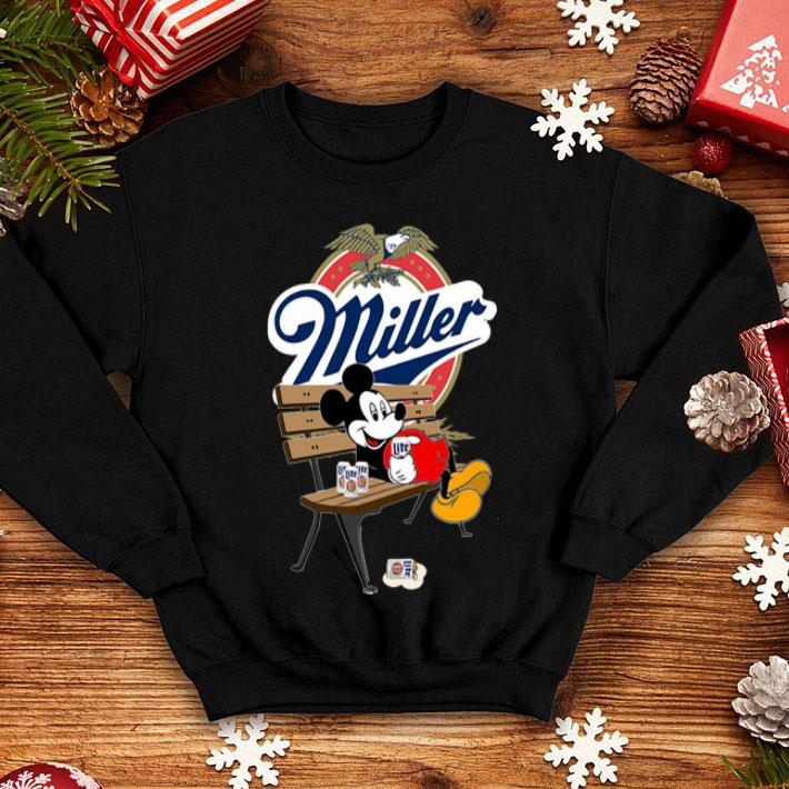 Mickey Mouse Drink Miller Beer shirt 4 1 - Mickey Mouse Drink Miller Beer shirt