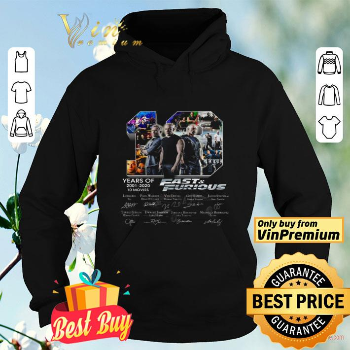 19 Years Of 2001 2020 10 Movies Fast and Furious Signature shirt 4 - 19 Years Of 2001 2020 10 Movies Fast and Furious Signature shirt
