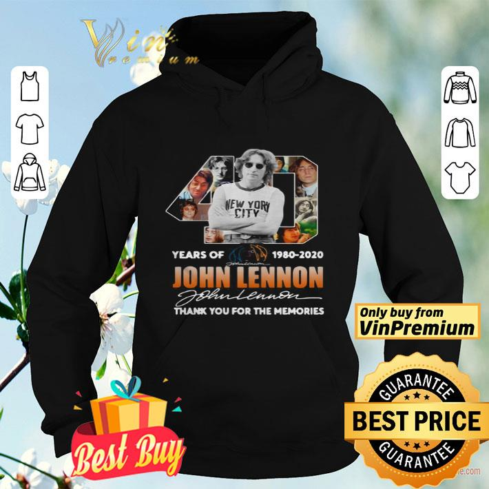 40th Years Of 1980 2020 John Lennon Signature Thank You For The Memories shirt 4 - 40th Years Of 1980-2020 John Lennon Signature Thank You For The Memories shirt