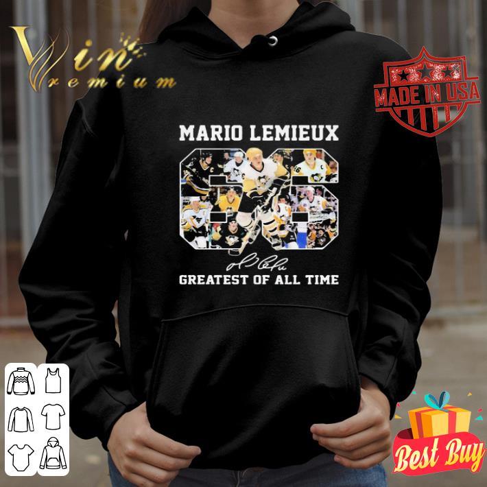 66 Mario Lemieux Pittsburgh Penguins signature greatest of all time shirt 4 - 66 Mario Lemieux Pittsburgh Penguins signature greatest of all time shirt