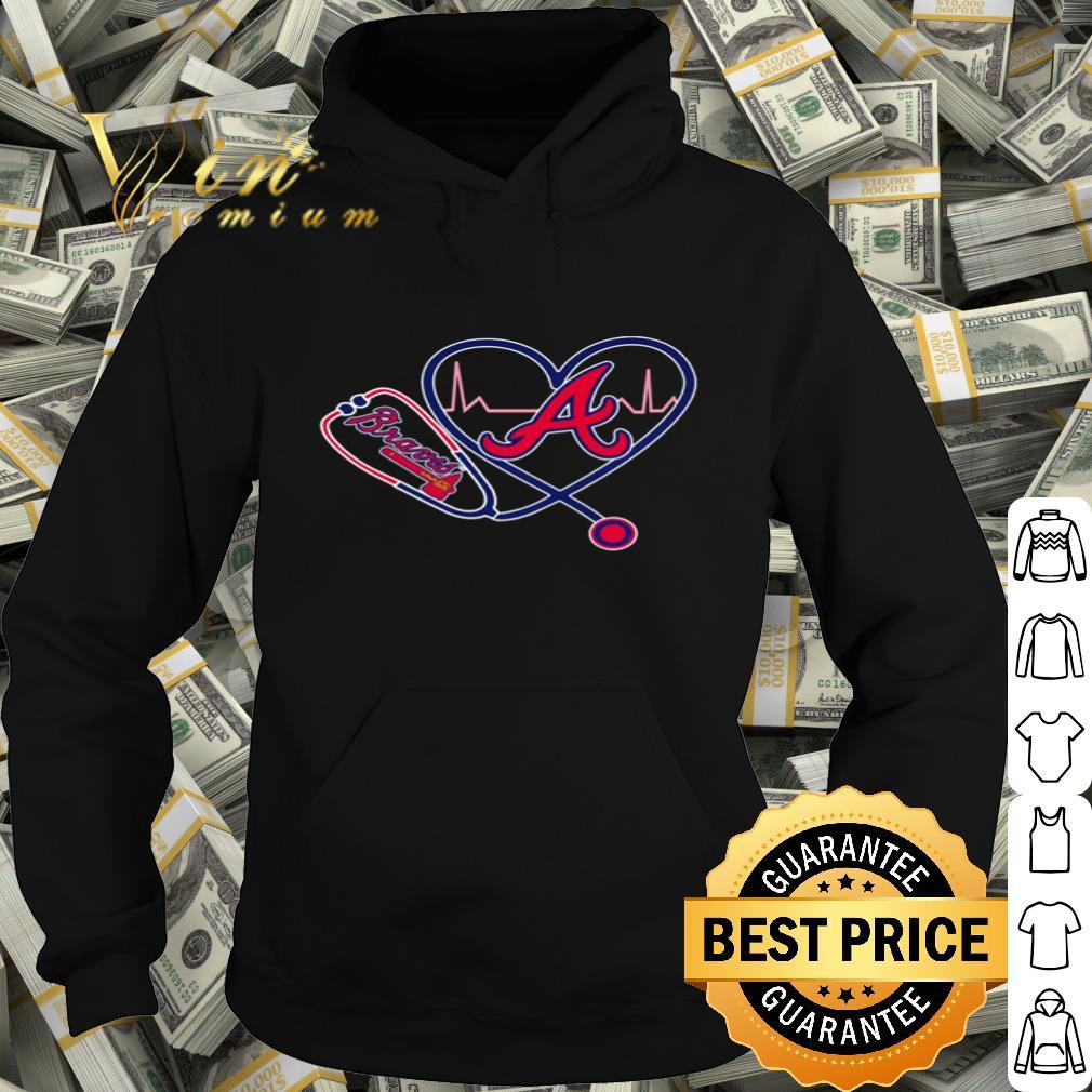 Atlanta Braves nurse stethoscope love heartbeat shirt 4 - Atlanta Braves nurse stethoscope love heartbeat shirt