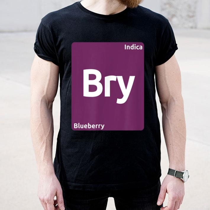 Blueberry Indica Cannabis Strain Periodic Table Shirt 4 - Blueberry Indica Cannabis Strain Periodic Table Shirt