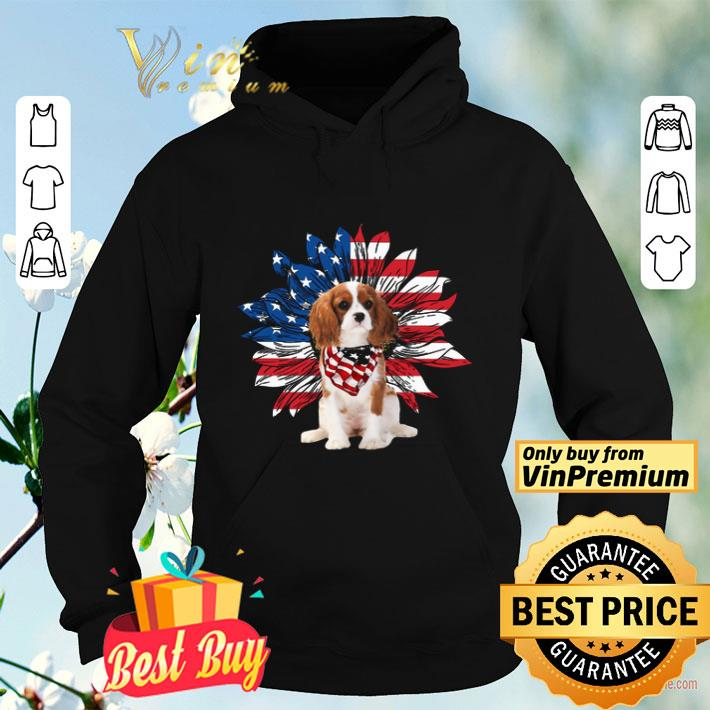 Cavalier King Charles Spaniel Dog Sunflower American Flag shirt 4 - Cavalier King Charles Spaniel Dog Sunflower American Flag shirt
