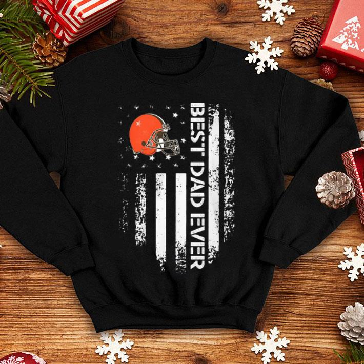 Cleveland Browns Best Dad Ever American Flag Father s Day shirt 4 - Cleveland Browns Best Dad Ever American Flag Father's Day shirt