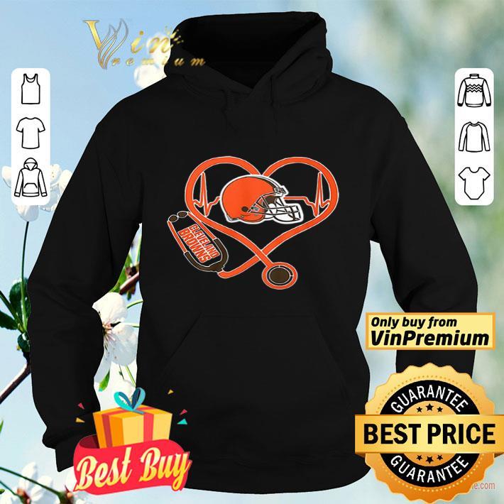 Cleveland Browns nurse heartbeat shirt 4 - Cleveland Browns nurse heartbeat shirt