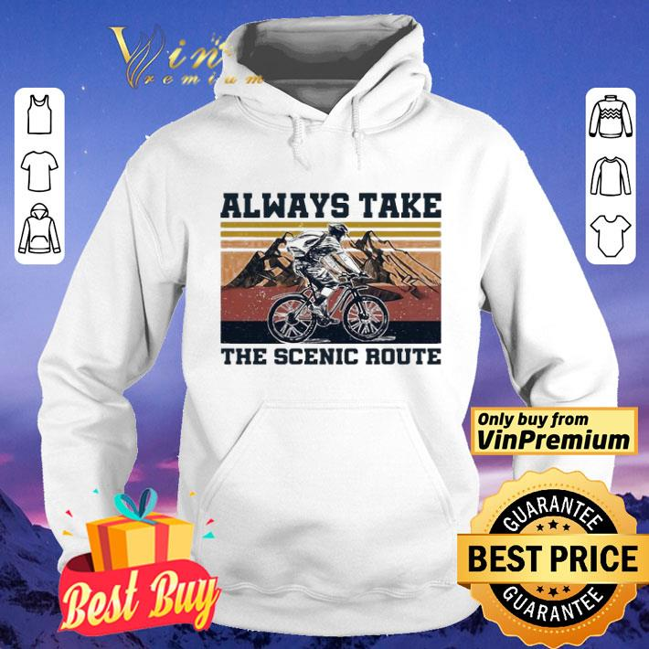 Cycling Always take scenic route vintage shirt 4 - Cycling Always take scenic route vintage shirt