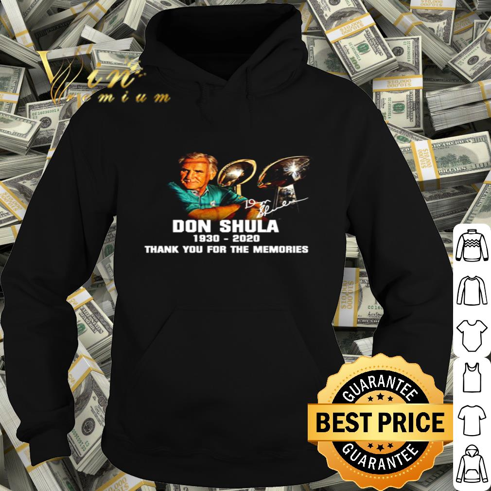 Don Shula signature 1930 2020 thank you for the memories shirt