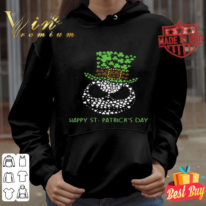 Glitter Jack Skellington Happy St. Patrick's day shirt