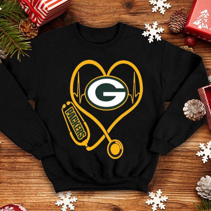 Green Bay Packers Heartbeat Nurse Stethoscope shirt 4 - Green Bay Packers Heartbeat Nurse Stethoscope shirt