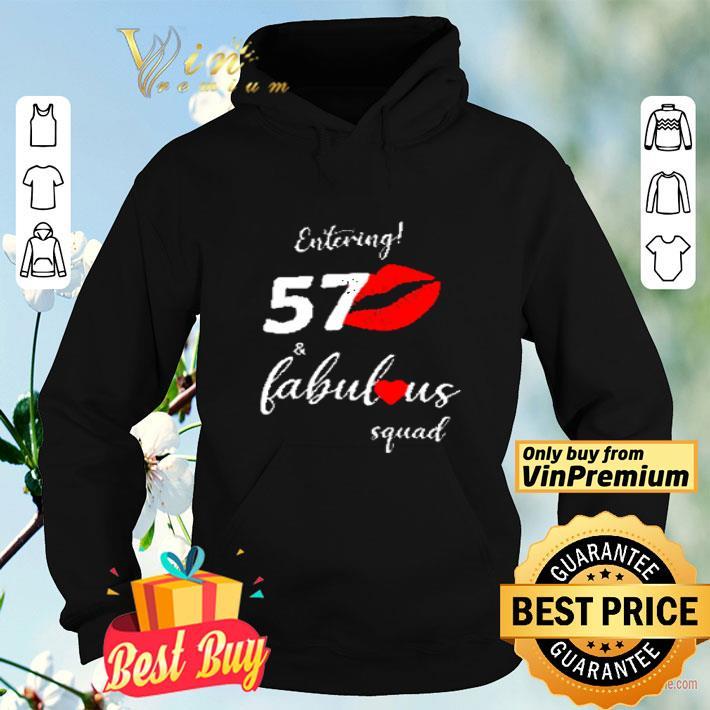 Lips Red Heart Entering 57 Fabulous Squad shirt 4 - Lips Red Heart Entering 57 Fabulous Squad shirt