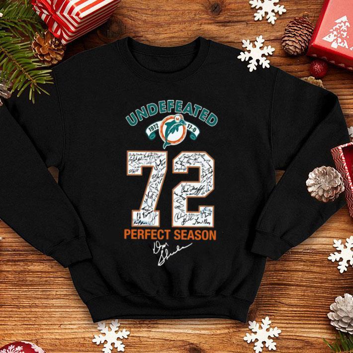 Miami Dolphins Undefeated 72 Perfect Season Signature shirt