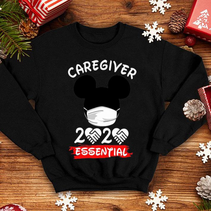 Mickey Mouse Face Mask Caregiver 2020 Essential Covid-19 shirt