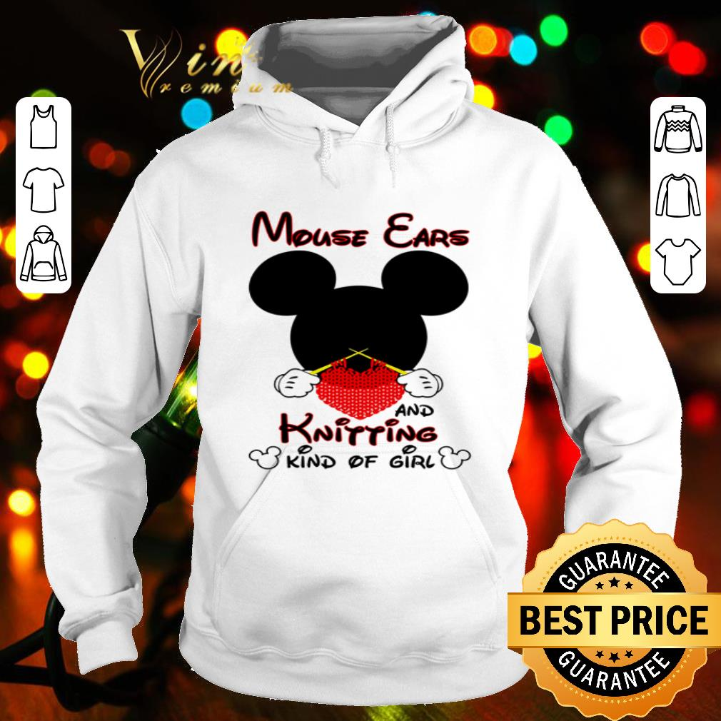 Mickey mouse ears and knitting kind of girl shirt