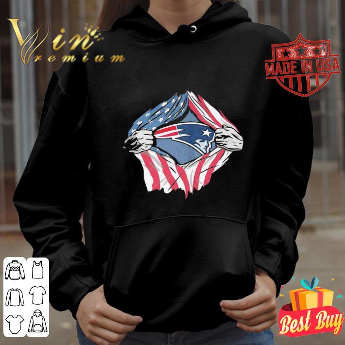 New England Patriots inside me American Flag shirt