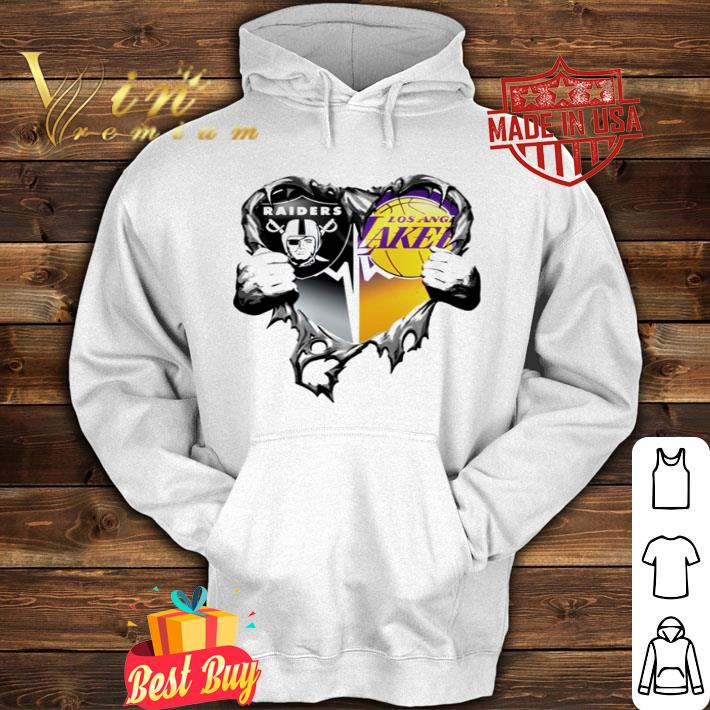 Oakland Raiders and Los Angeles Lakers inside me shirt