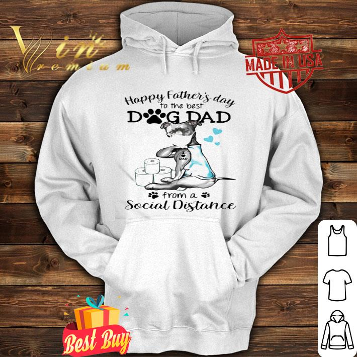 Pit Bull happy father's day to the best dog dad social distance Covid-19 shirt