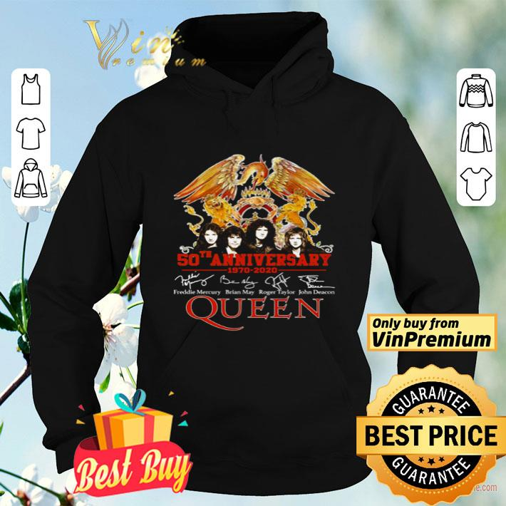 Queen 50th Anniversary 1970 2020 signatures shirt 4 - Queen 50th Anniversary 1970-2020 signatures shirt