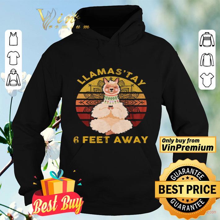 Sheep Yoga Llamastay 6 Feet Away Vintage shirt 4 - Sheep Yoga Llamastay 6 Feet Away Vintage shirt