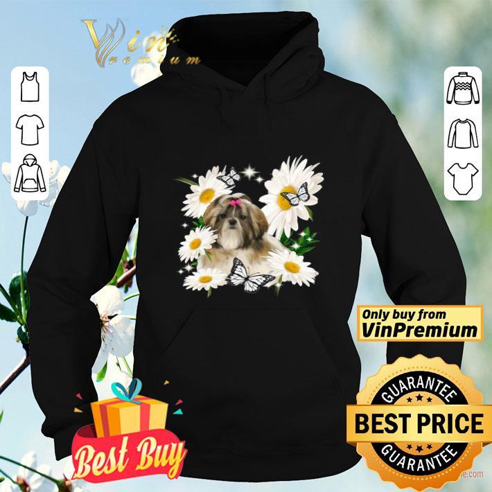 Shih Tzu Dog Daisy flower Classic shirt 4 - Shih Tzu Dog Daisy flower Classic shirt