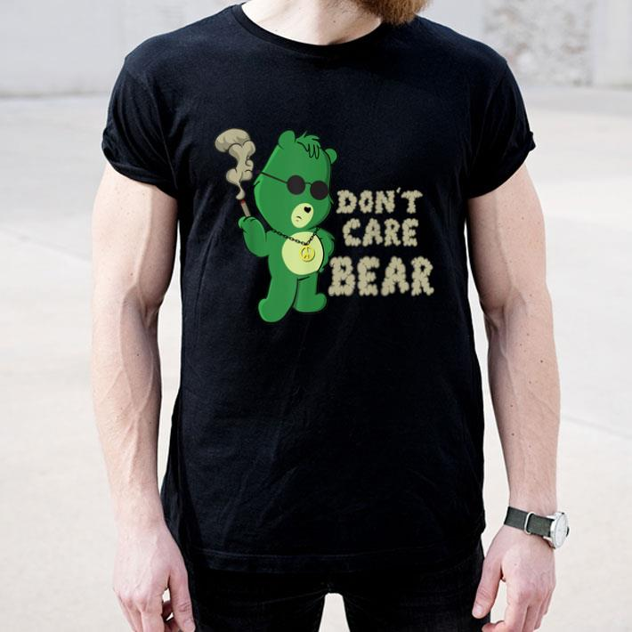 Smoking Weed Cannabis Marijuana 420 Stoner Gift Bear Shirt