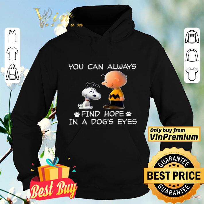Snoopy And Charlie Brown You Can Always Find Hope In A Dog s Eyes shirt 4 - Snoopy And Charlie Brown You Can Always Find Hope In A Dog's Eyes shirt