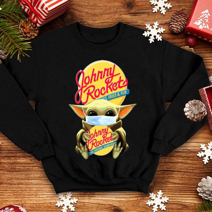 Star Wars Baby Yoda Mask Johnny Rockets Covid-19 shirt