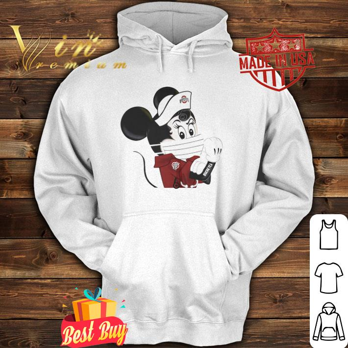 Strong Minnie Mouse Tattoos Ohio State Buckeyes Coronavirus shirt