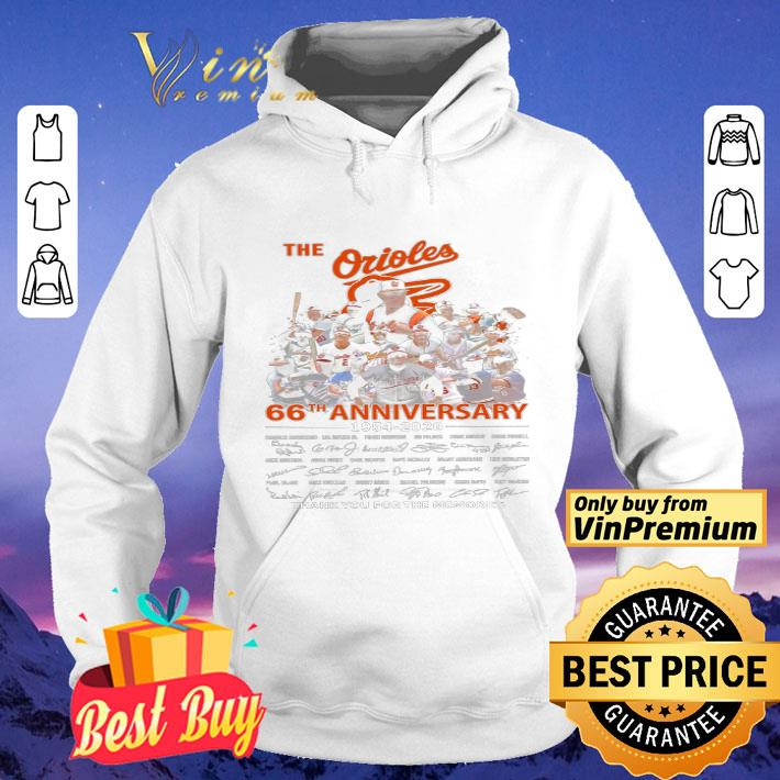 The Orioles 66th Anniversary 1954 2020 Signature Thank You For The Memries shirt 4 - The Orioles 66th Anniversary 1954 2020 Signature Thank You For The Memries shirt