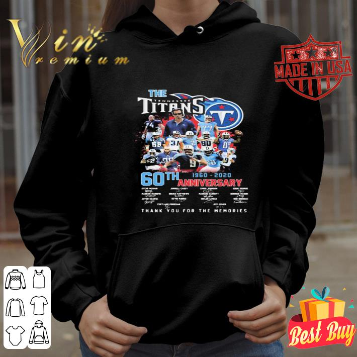 The Tennessee Titans 60th anniversary 1960 2020 signatures shirt