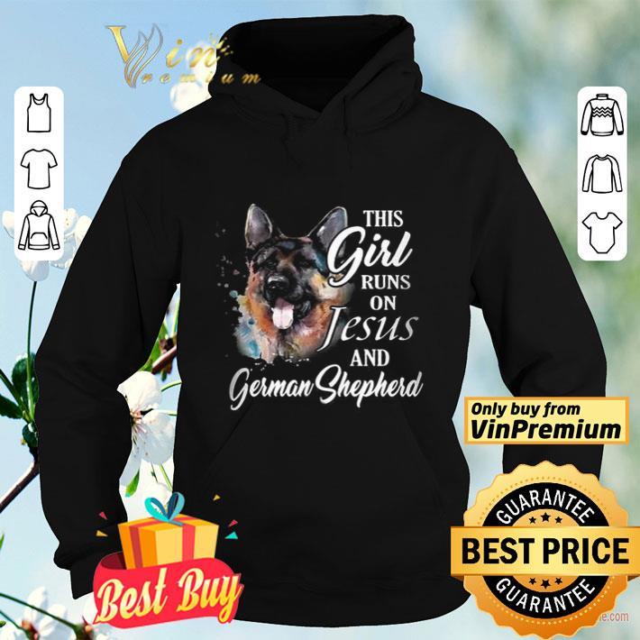 This Girl Runs On Jesus And German Shepherd shirt 4 - This Girl Runs On Jesus And German Shepherd shirt
