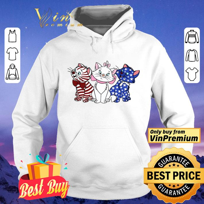 Three Red White And Blue Cats American Flag shirt