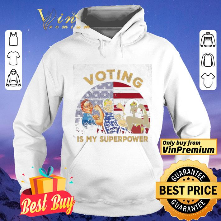 Veterans Party Ginsburg Wonder Girl Voting Is My Superpower American Flag shirt 4 - Veterans Party Ginsburg Wonder Girl Voting Is My Superpower American Flag shirt