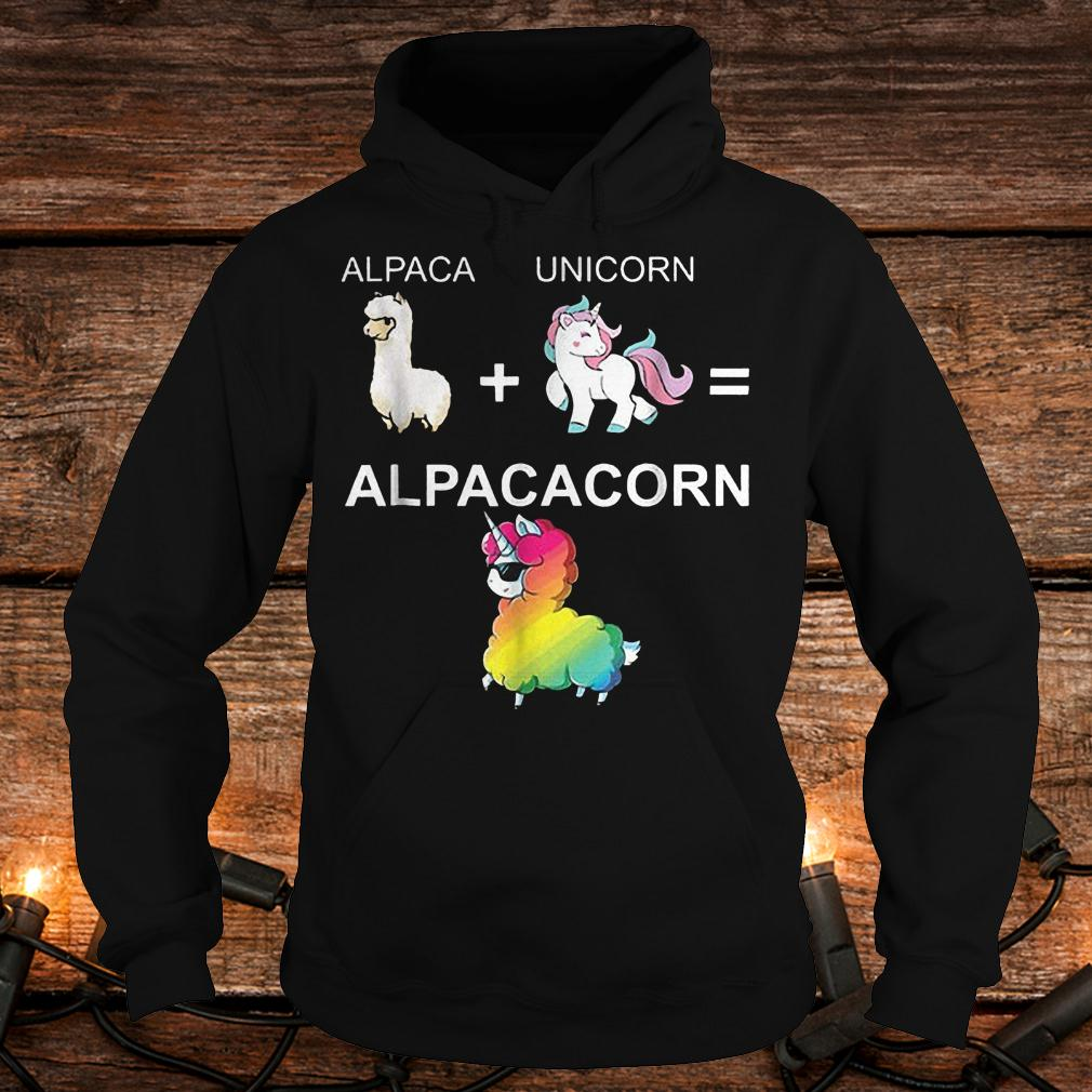 Alpaca combined with unicorn turns into Alpacacorn shirt