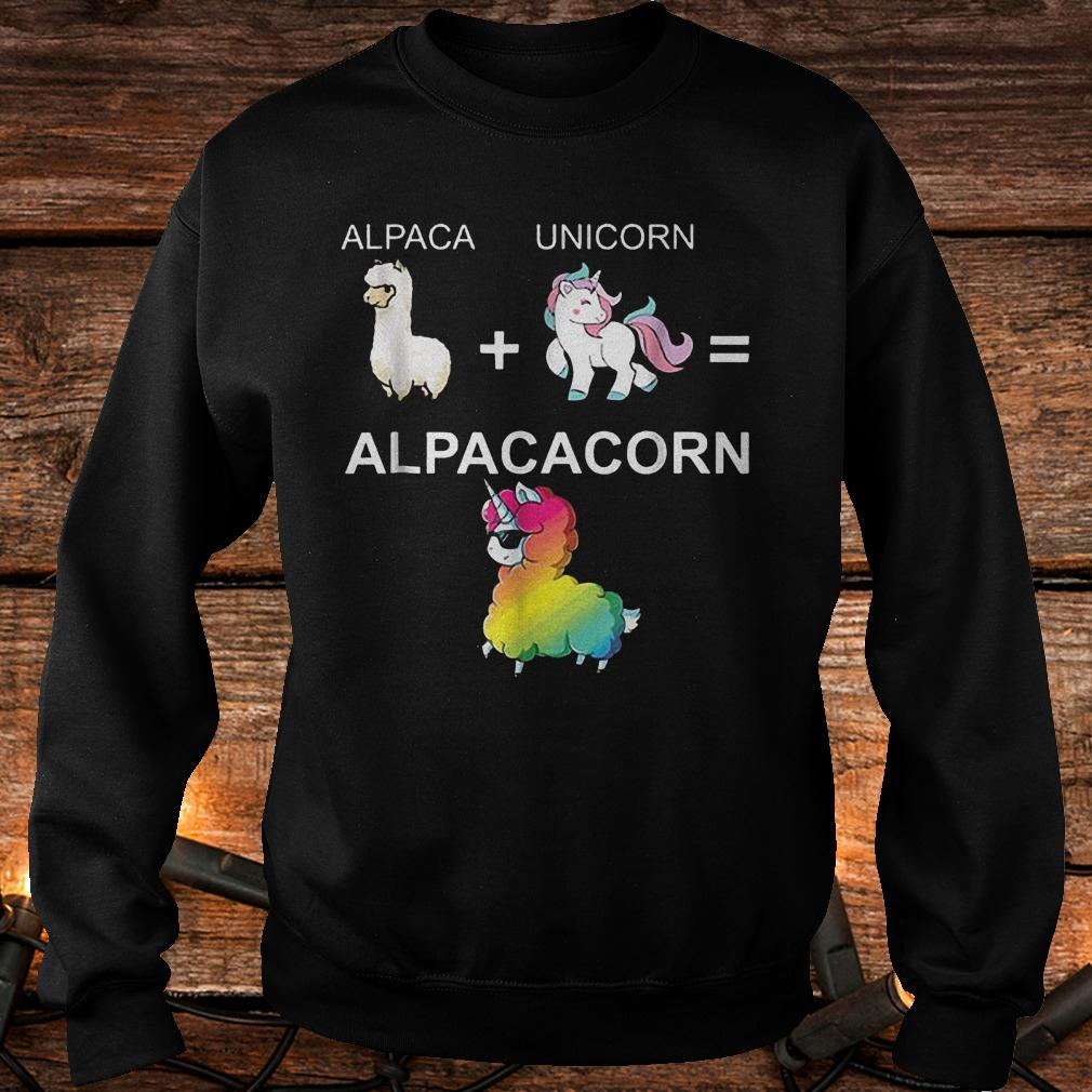 Alpaca combined with unicorn turns into Alpacacorn shirt Sweatshirt Unisex