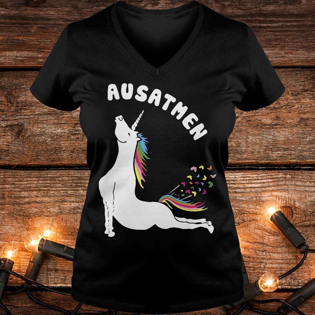 Ausathen Unicorn shirt Ladies V-Neck